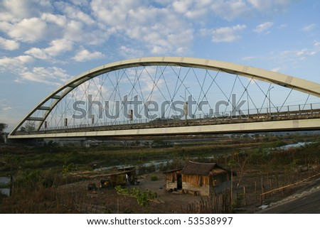 nielson bridge on mcarthur highway at bamban tarlac the philippines - stock photo