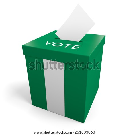 Nigeria election ballot box for collecting votes