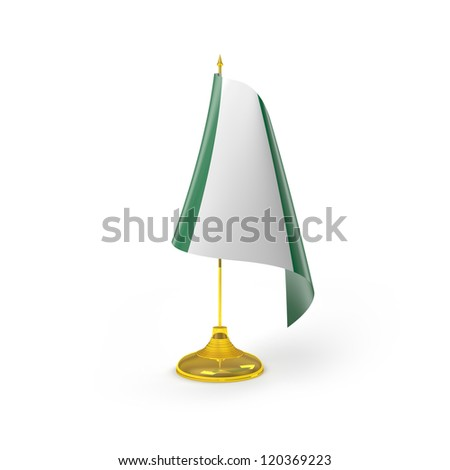 Nigeria Flag Detail Render