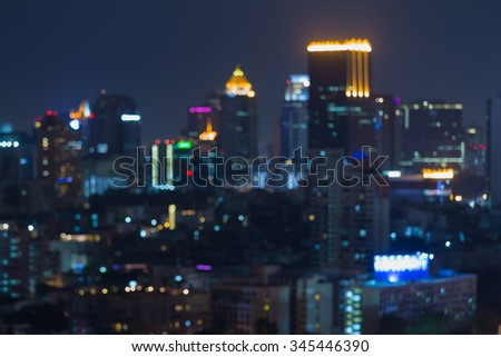 Night blurred city light, abstract blurred bokeh background