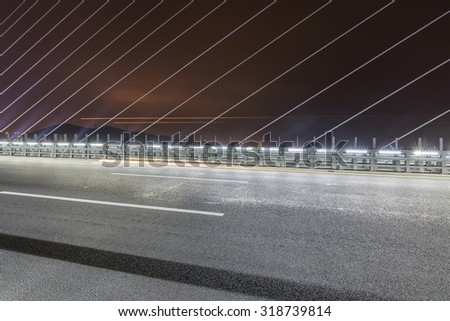 Night cable-stayed bridge