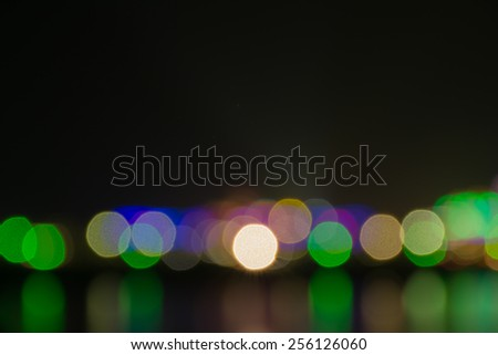 night city abstract bokeh background - stock photo