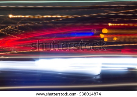 night city light trails red and white