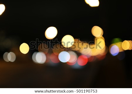 Night city lights bokeh background