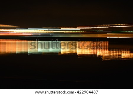 Night City Lights reflected in the water