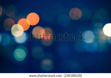 Night city street lights bokeh background - stock photo