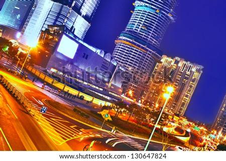 Night city view - stock photo