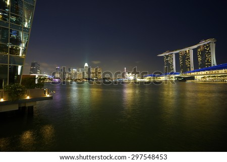 Night Cityscape at Marina Bay Singapore