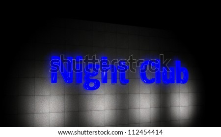 Night club sign - stock photo