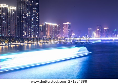 night cruise on Pearl River