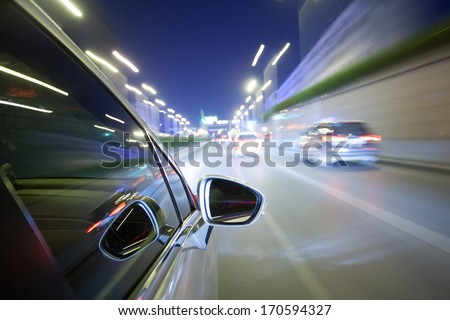 night drive blussed in motion