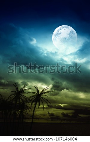 Night landscape - stock photo