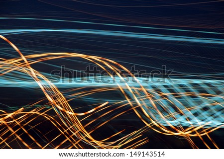 Night Lights in Motion - stock photo