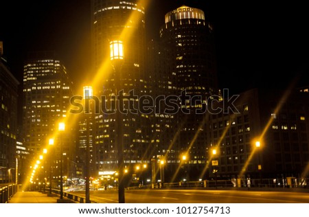 Night lights in the city