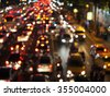 Night lights of city - stock photo