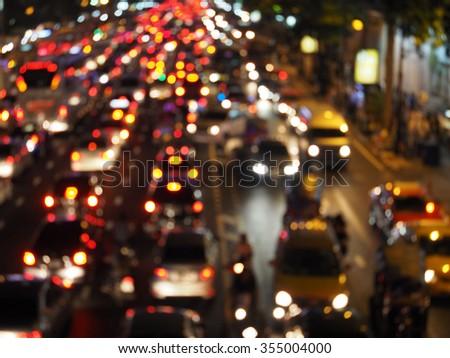 Night lights of city - stock photo