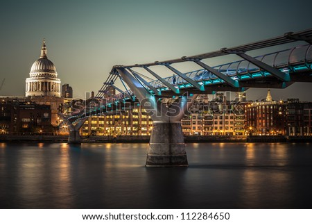 Night London - stock photo