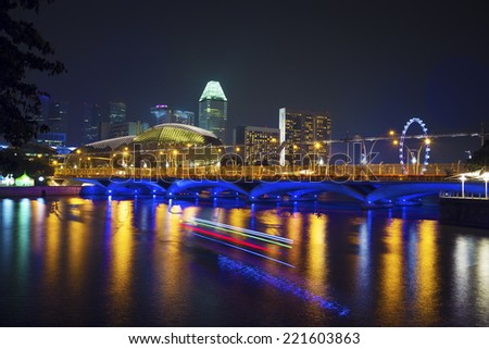 Night of Singapore skyline