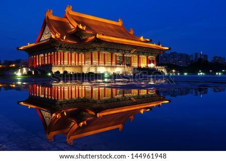 Night of The National Taiwan Democracy Squar - stock photo