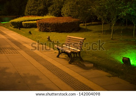 Night park benches