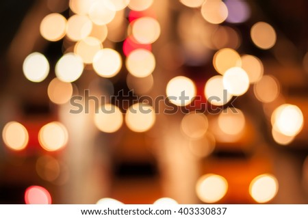 Night road of lights cars traffic jams ,Bokeh ,blur nigth lights background