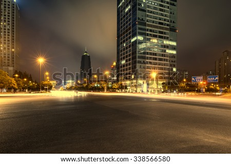 night scene of modern city