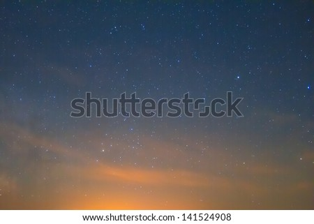 night sky after a sunset - stock photo