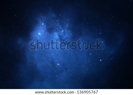 Night sky filled with stars, nebula and galaxy