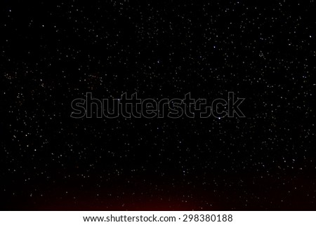 Night Sky Picture Darkness Planets and Stars - stock photo