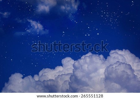 night sky with cloud - stock photo