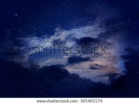night sky with cloud,purple background.
