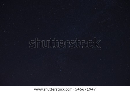 Night sky with many stars