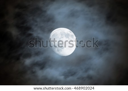 Night sky with moon and cloud