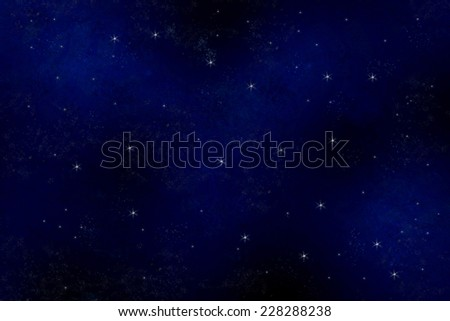 Night sky with stars. - stock photo
