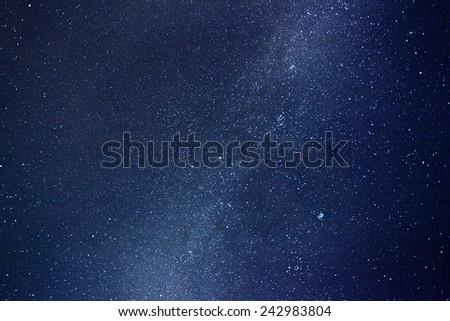 Night sky with stars and nebula. Milky Way - stock photo