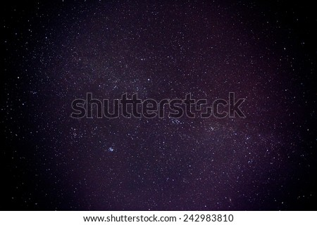 Night sky with stars and nebula. Milky Way - stock photo