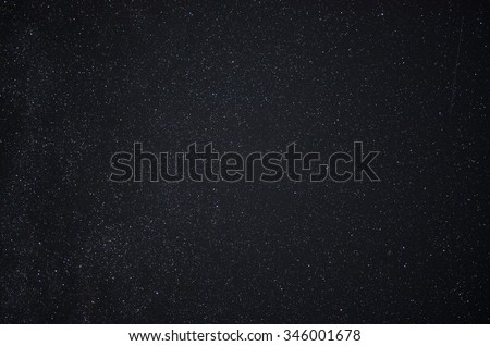 Night sky with stars and sattelites - stock photo