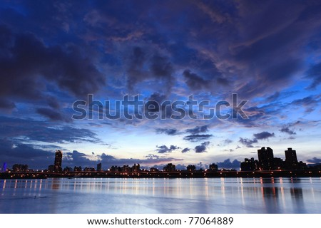 Night, Skyline at Taiwan Taipei - stock photo