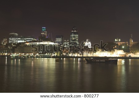 night skyline of london