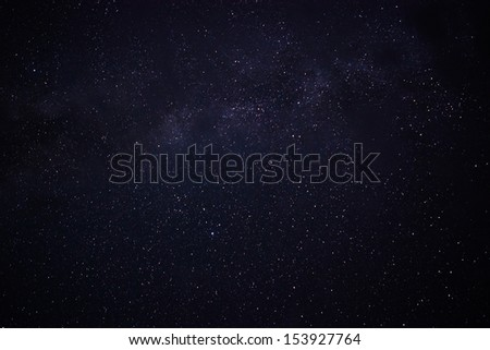 Night star sky, milky way