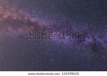 night starry sky background - stock photo