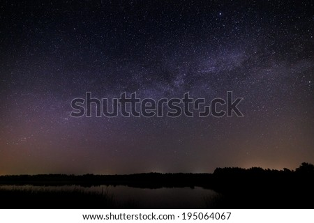 Night starry sky for background.