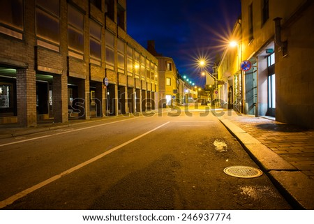 night streets of Helsingborg - stock photo