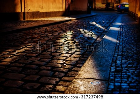 Night streets of Prague.