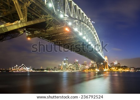 night Sydney city - stock photo