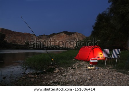 night tent - stock photo