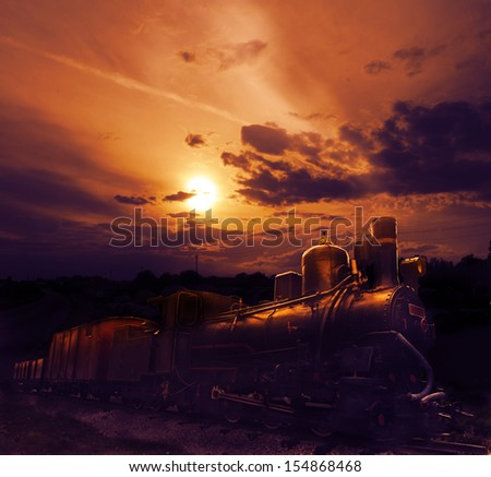Night Train - stock photo