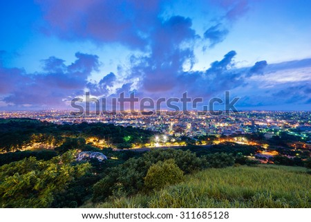 Night view from Mt. Ao-Feng,Taichung, Taiwan