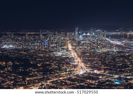 night view in san francisco