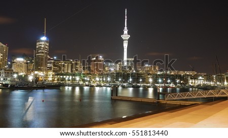 Night view of Auckland